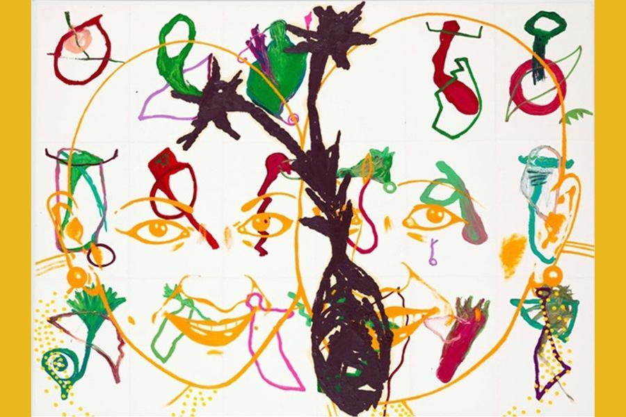 """Abbildung von EVA&ADELEs Werk """"Tranformer-Performer VIA AURELIA"""""""