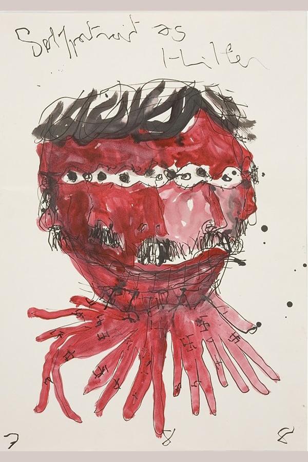 """Abbildung von Guillaume Bruères Werk """"Selfportrait as Hitler"""""""