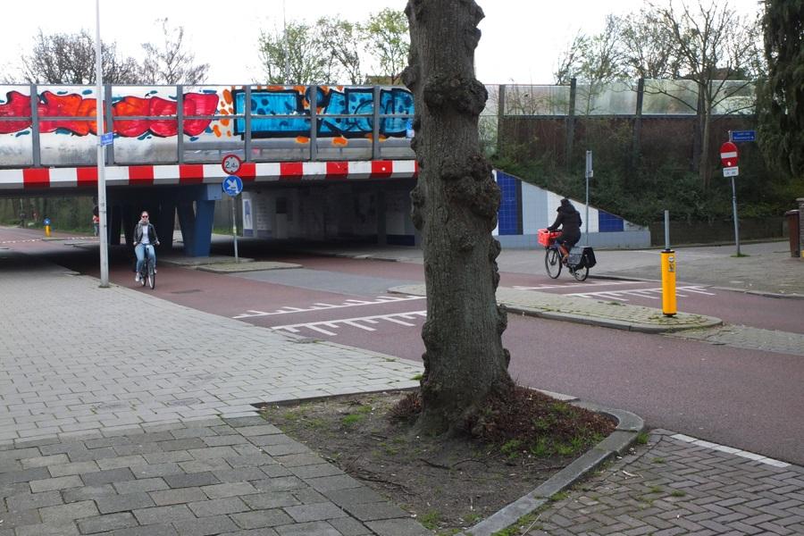 Straße vor dem Rietveld Schröder Haus