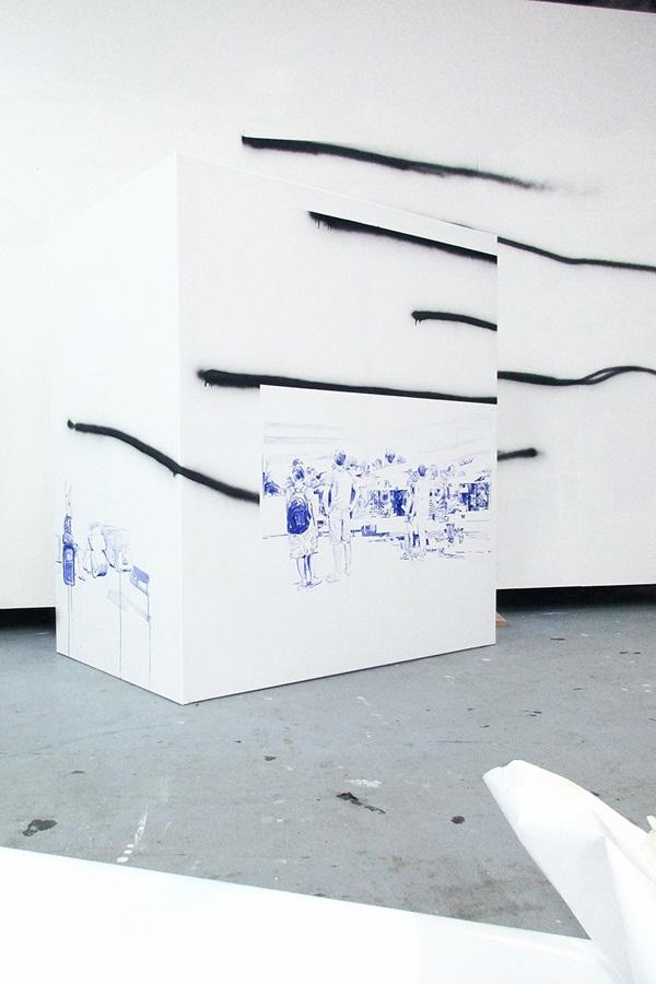 Kunstevolution mit Michael Weißköppel - die Werke, die der Maler in OWL 4 - Gegenspieler ausgestellt hat in ihrer Entstehung