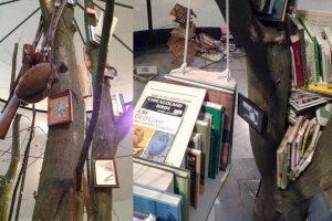 "Details der Installation ""Library for the Birds"""