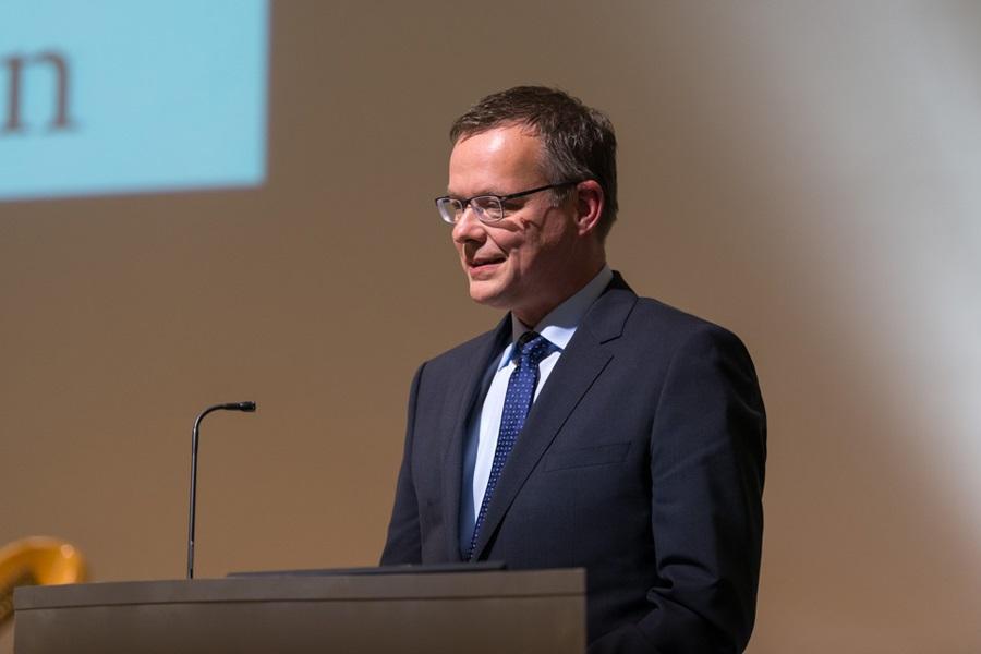 Foto von Marta-Direktor Roland Nachtigäller während der Rede