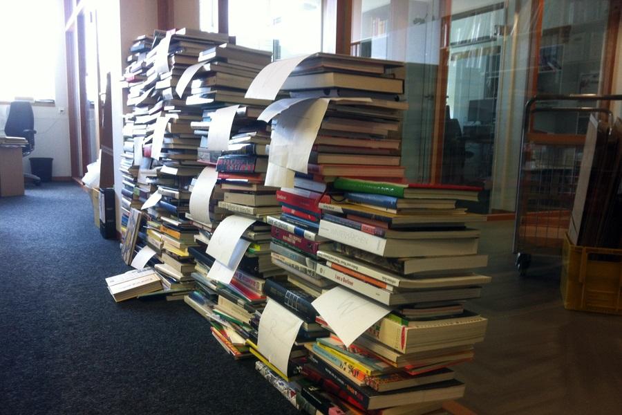 Bibliotheksarbeiten im Marta Herford