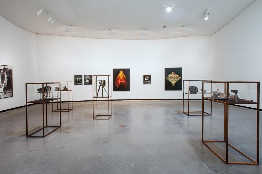 Installationsansicht der Ausstellung Momente der Auflösung im Museum Marta Herford