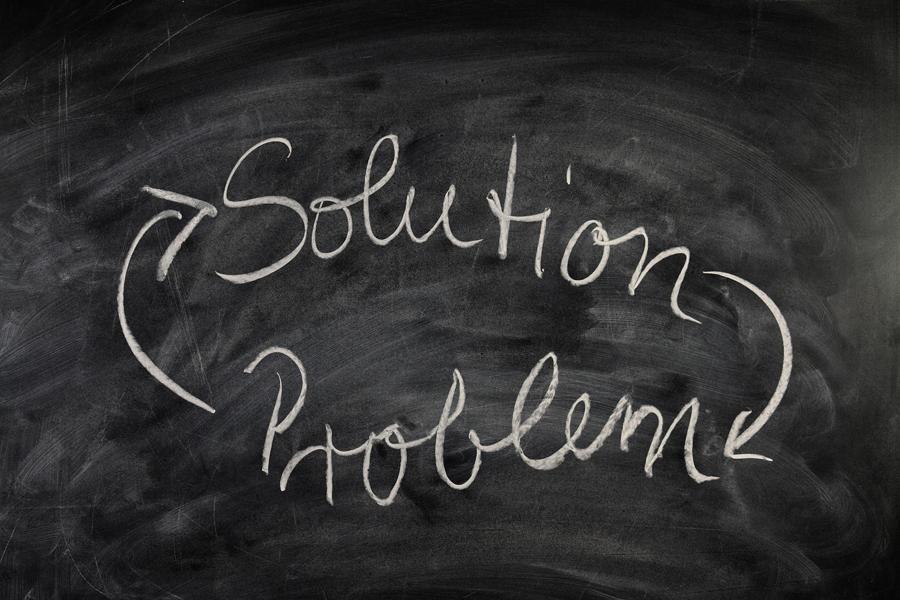 Illustration des Problem Lösung Kreislaufs