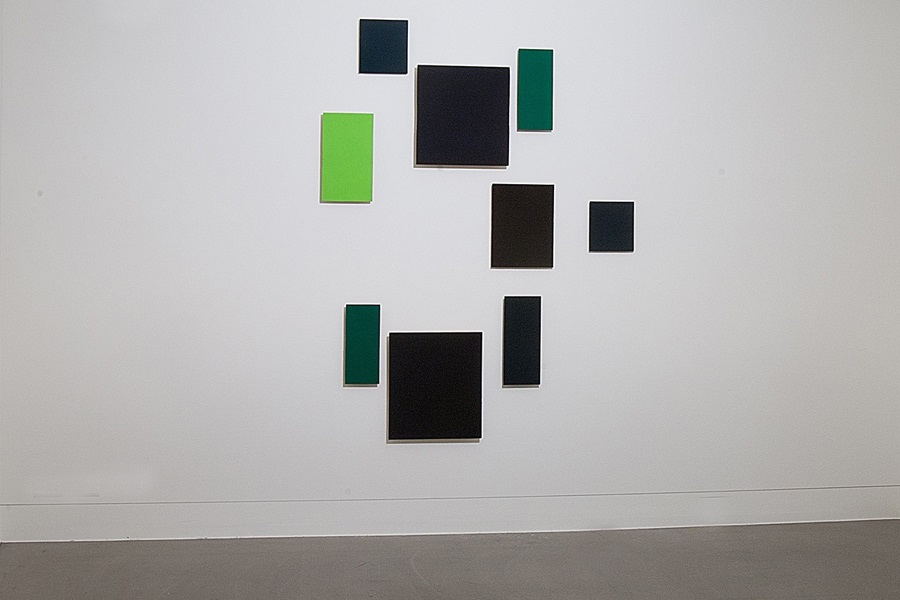 Abbildung von Günter Umbergs Arbeit Territorium 2 in der Marta-Ausstellung Grün stört