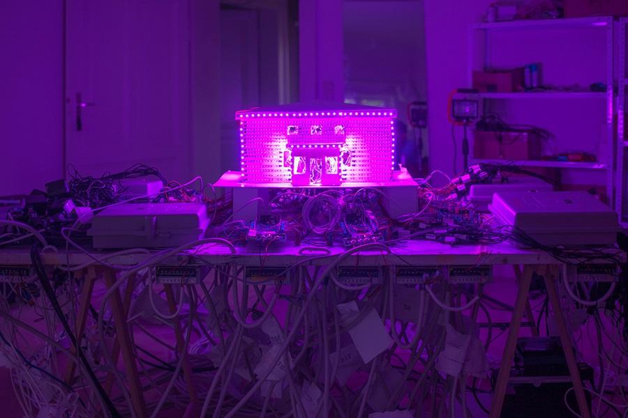 Abbildung des Werkes ...But No One's Home von Kevin Schmidt auf dem Lichtparcours Braunschweig