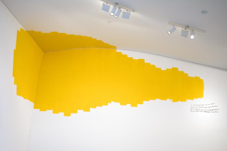Yellow Bolb in der Ausstellung Hellwach